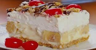Gâteau banana split sans cuisson