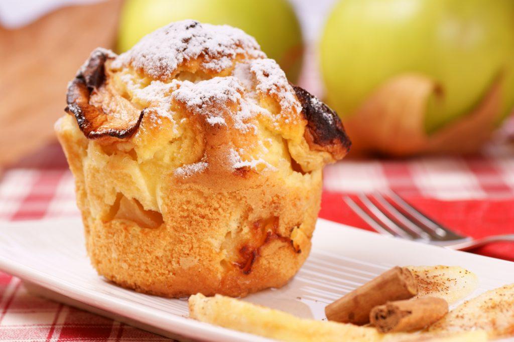 Muffins pommes caramel