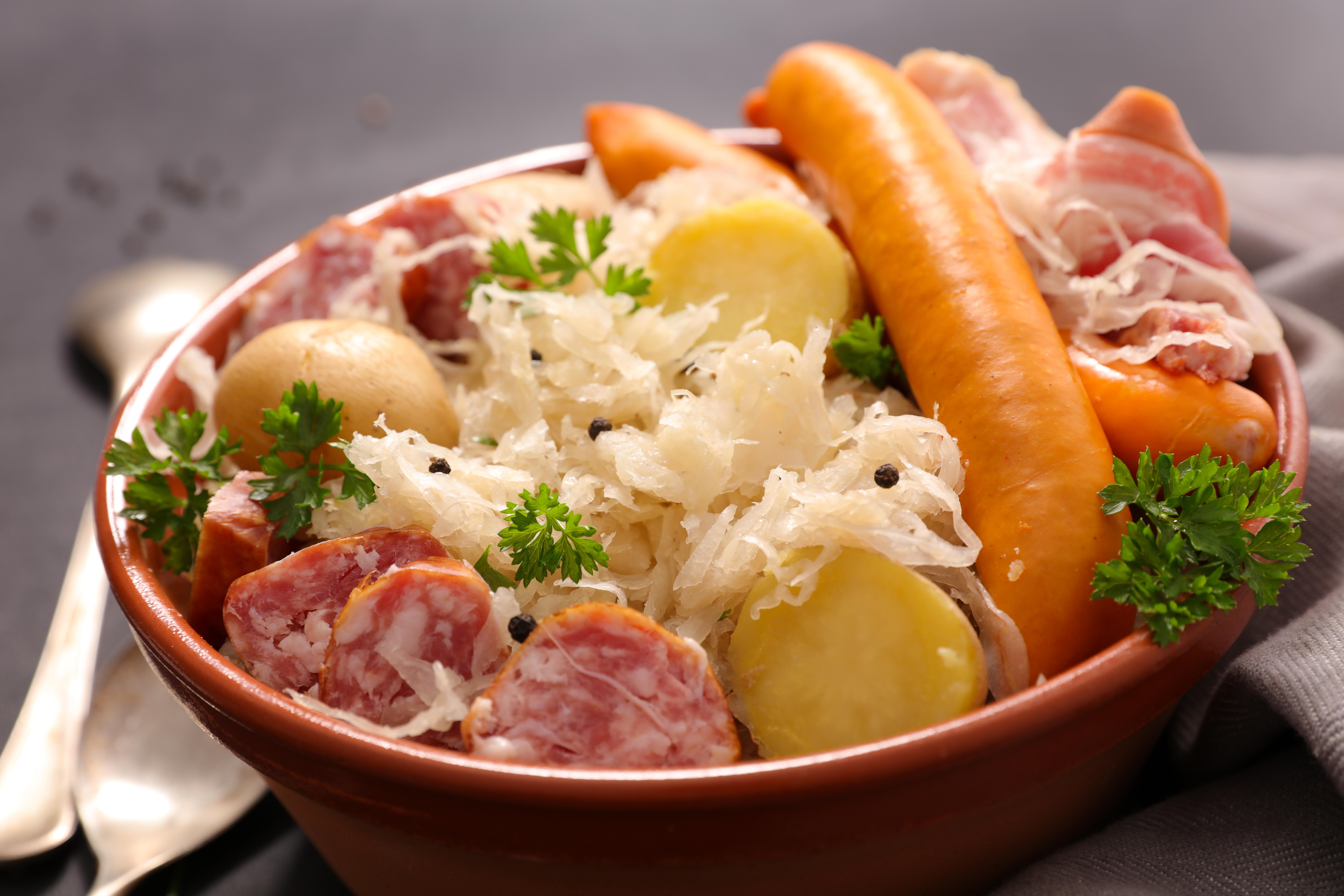 Une bonne recette de la vraie Choucroute Alsacienne