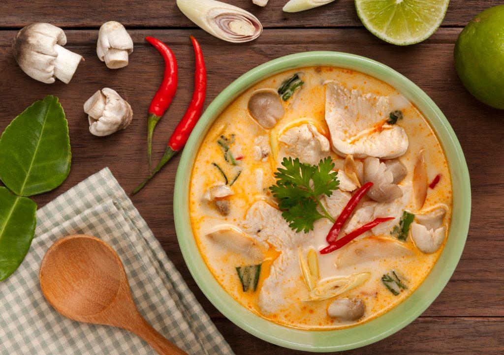 Poulet Thaï au lait de coco