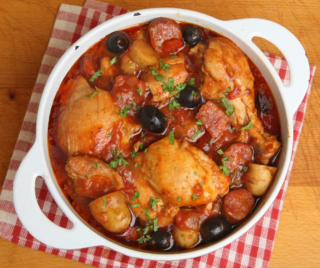Poulet au chorizo olives