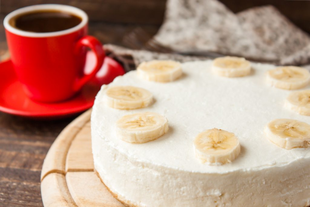 Gâteau mousse de bananes