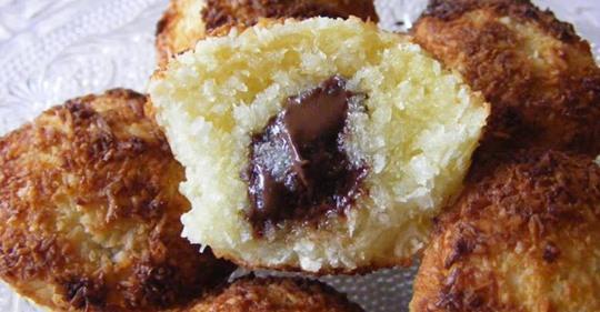 Moelleux coco, cœur de chocolat