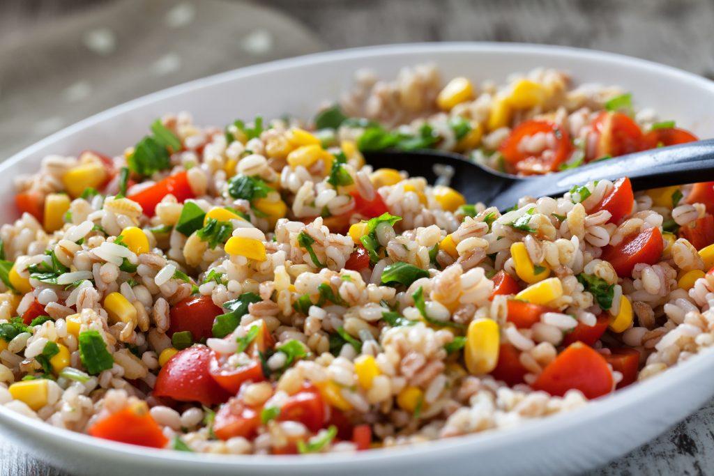 Salade très fraîche de riz et Ebly