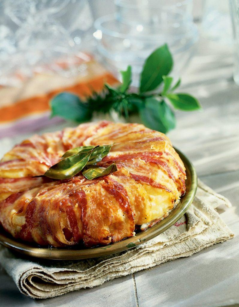 Galette de pommes de terre au lard