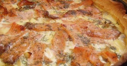 Tarte au saumon fumé