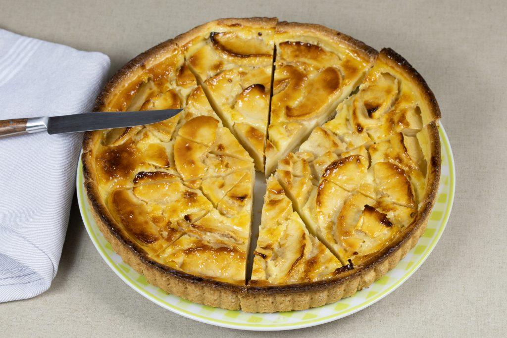 Tarte aux pommes à la crème fraîche de Normandie