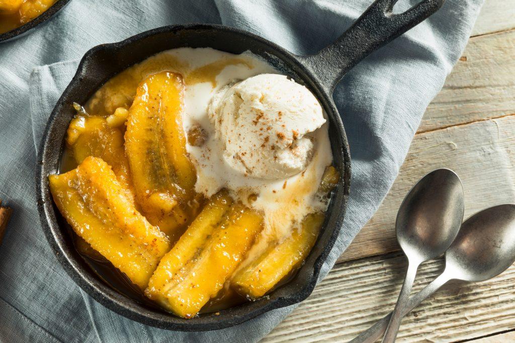 Bananes à la cannelle et glace à la vanille !