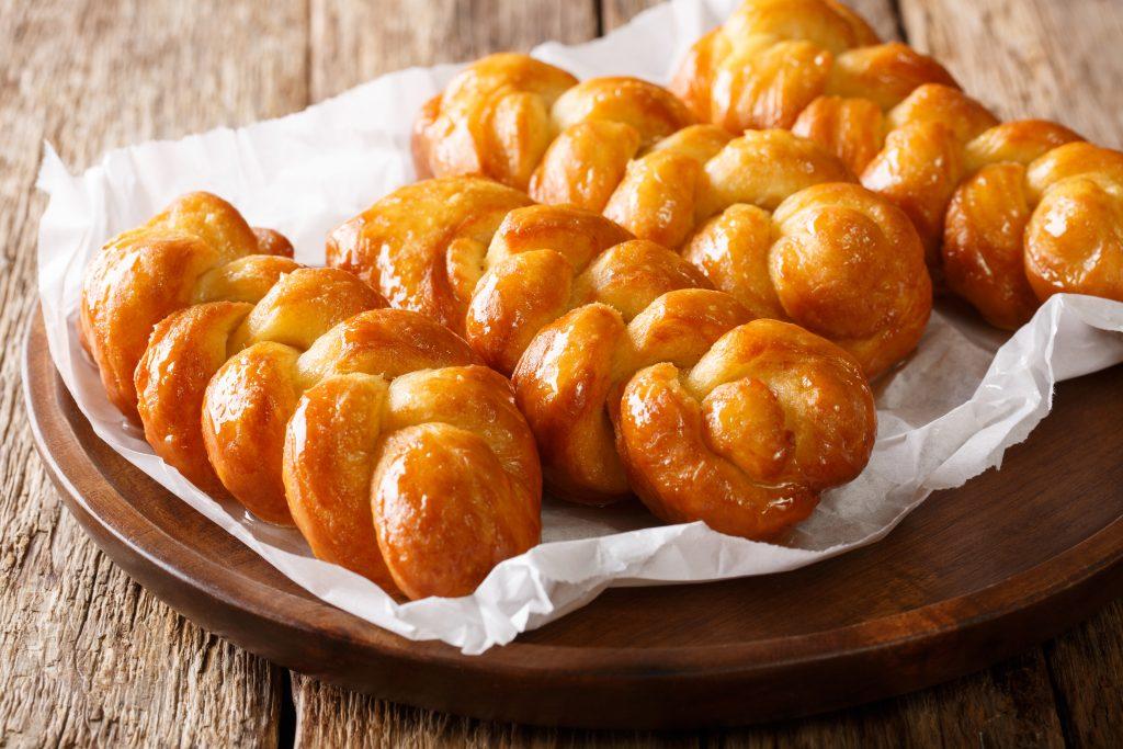 Donuts tressés