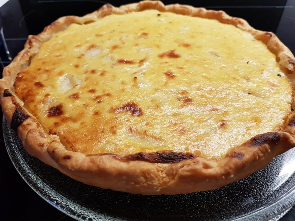 Tarte aux pommes et fromage blanc