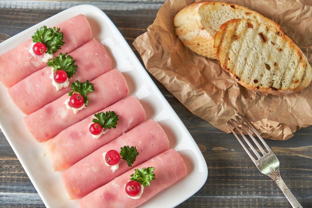 Jambon roulé au fromage frais