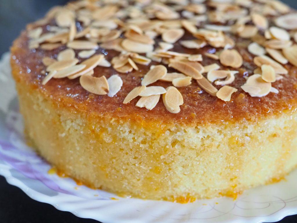 Gâteau fleur d'oranger et amandes