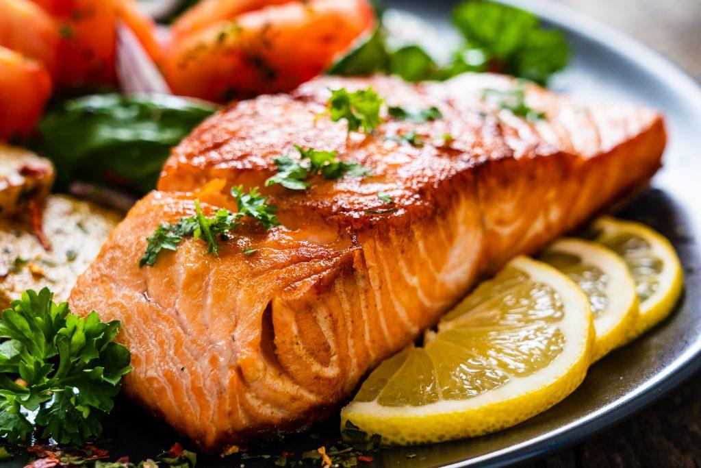 Pavé de saumon à la plancha