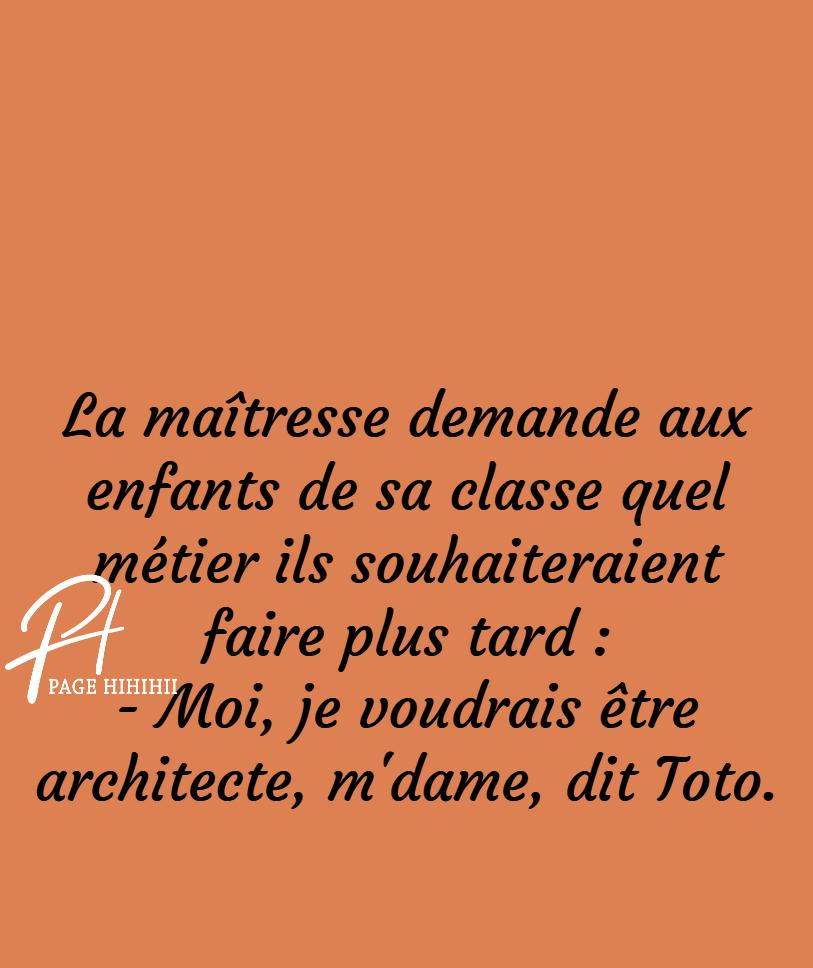 Toto veut être architecte !