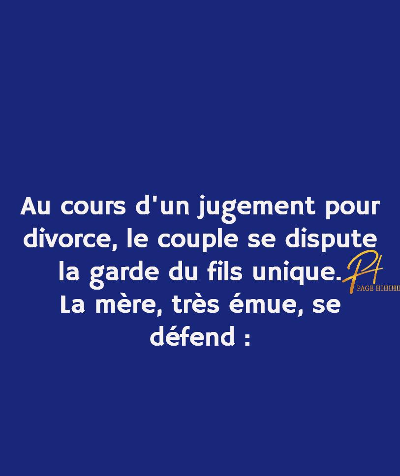 Lors de son divorce, l'homme fait une comparaison plus que douteuse !!